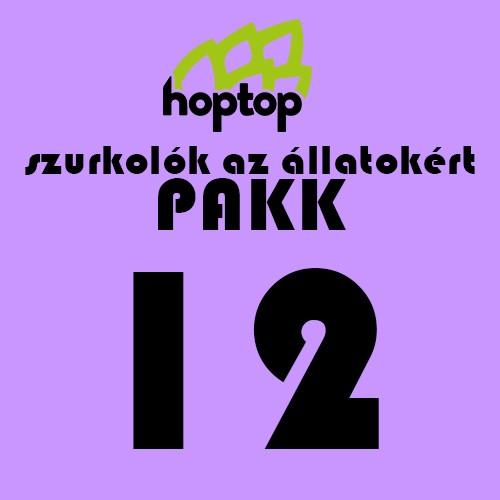 SZURKOLÓK AZ ÁLLATOKÉRT 12-es PAKK HOPTOP X ONE BEER