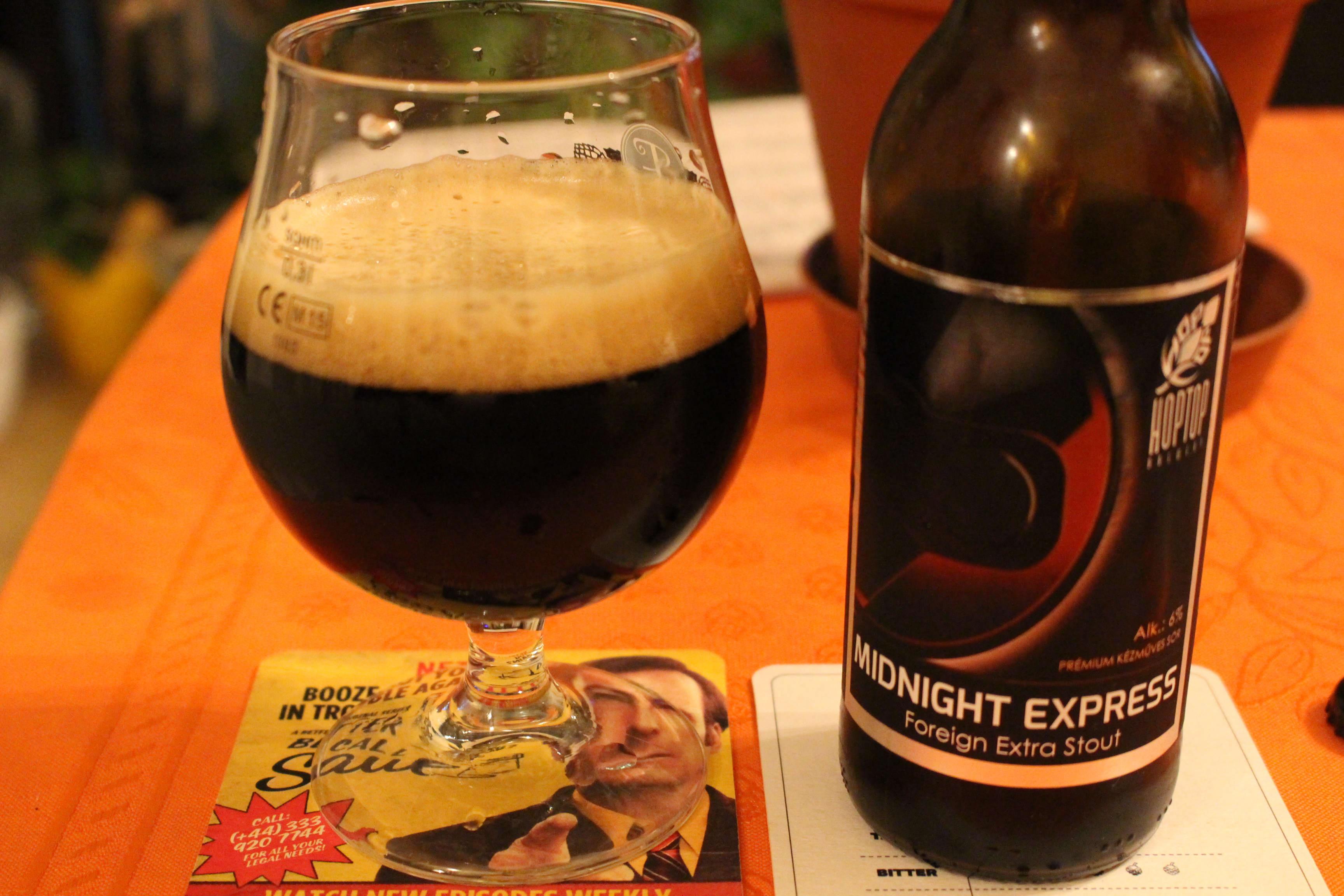 """Midnight Express"" – HopTop Brewery – Bronze Award – International Beer Challenge 2016"